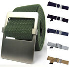 GB01 New Men Influx Of Casual Canvas Double-Sided Available Smooth Buckle Belts