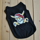 New Summer Action Pirate Black Vest For Small Dog Cat Pet Apparel Clothes