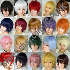 New Fashion Short Layered Cosplay Party Wig 30colors FREE SHIPPING+WIG CAP