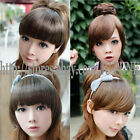Girl's One piece hair extensions Fashion Front Bangs/Fringes Clip-in PostageFree