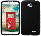 BLACK Silicone Case Skin Gel Cover for LG Optimus L70