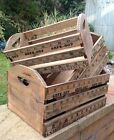 VINTAGE SHABBY WOODEN INCHES CRATE RUSTIC STORAGE BOX TRUG AGED FINISH  3 SIZES