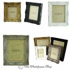 Ornate Swept Shabby & Chic Vintage Antique Style Photo Frames 6x4,7x5,8x6,10x8