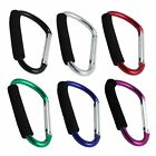 7 Inch Jumbo Aluminum Carabiner Hiking Cushion Grip (6 Colors)