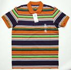 UNIQLO MEN Dry Pique Printed Short Sleeve Polo Shirt Orange (077017)