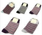 Women's Warm Thick Wool Blend Plaid Socks Sports Hosiery Casual Socks