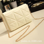 Candy Women Grid Clutch Chain Purse Evening Party Bridal Handbag Cosmetic Bag uk