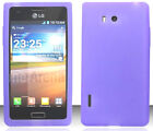 PURPLE Silicone Case Skin Gel Cover for LG Optimus Snapshot LS730