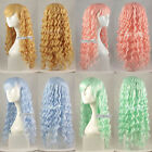 65CM 10 Colors Lady/Girl Long Curly Style Cosplay Anime Wig Hair With Wig Cap
