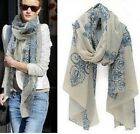 FD148 Women Flora Flower Cotton Scarf Wrap Ladies Shawl Girls Large Silk Scarves