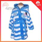Boys Kids George Hoodie Hooded Winter Long Sleeve Dressing Gown Bath Robe PJ Sz