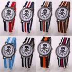 Fabric Military Army Sport Nylon Canvas Striped Strap Watch Casual Wristwatches