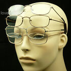 4 PAIR LOT METAL READING GLASSES CLEAR LENS MEN WOMEN NEW MAGNIFY POWER MM47