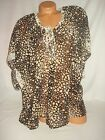Victoria Secret Swim Wear Suit Cover Up Beach Very Sexy Leopard Brown Animal NWT