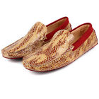US5-10 New TOP Leather Casual Snakeskin SLIP-ON Loafer drive car mens boat shoes