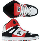 DC KIDS REBOUND HI TOPS SILVER/RED/WHITE