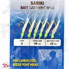 Fishing Piscatore Sabiki Rigs Lure 6 Hooks Size #1/0,#2,#4,#6,#8,#10,#12,#14 NEW