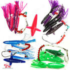 Fishing Daisy BirdsChain Squids Lures Hook set Teaser Trolling Big Game Bait New
