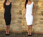 Midi Vest Dress Extra Long For Tall Combed Cotton, Summer Beach Sizes 6 - 16