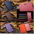 Luxury Stylish Ultra Slim Snap On Back Flip PU Leather Cover Case Fo Cell Phones