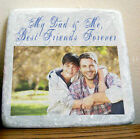 """Personalised Gift Drinks Coaster Wall Art """"MY DAD & ME"""" Fathers Day Birthday Dad"""