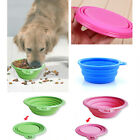 1*Fashion Pet Dog Cat Collapsible Silicone Feeding Water Feeder Travel Bowl Dish