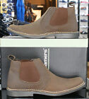 Mens Designer Roamers slip on desert boots in Brown Waxy Crazy Horse Leather