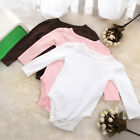 Baby's One-piece Rompers Long Sleeves Solid Color Infant Climb Clothes TYP015