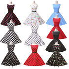 LADY VINTAGE CHIC TEA DRESS in 10 DIFFERENT PRINTS *50s ROCKABILLY* SWING DRESS