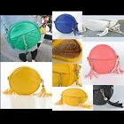 Newest Candy Color Women tassel Single Shoulder Bag With Chain Strap Round --LJ