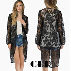QUEEN COLLECTION PUNK 6898 NO BUCKLE KIMONO-STYLE CARDIGAN