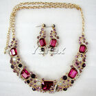 Nice Jewelry Swarovski Crystal Party Wedding Bridal Necklace and Earrings Set JS