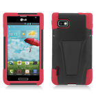 LG Optimus F3 MS659 Metro T-Mobile Hybrid Inverse Stand Case Cover