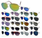 Mens Ladies Aviator Sunglasses Retro Geek Dark Lens Unisex Pilot Shades UV400