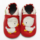 Soft Leather Shoes Slippers Baby Boy Girl Infant Toddler 0-36 MTHS White Duck