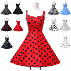 Women 50s 60s Vintage Short Ball gown Rockabilly Party Evening Prom Pinup Dress