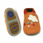 Hard Sole Leather Shoes Slippers Baby Boy Girl Infant Toddler 6-24 HTHS Clouds