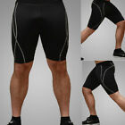 Mens Compression Tights Shorts Under Base Layer Sports Half Leggings Pants M-XXL