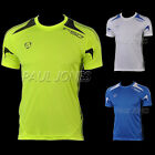 HOT Cool-DRI Men's Polyester Contrast Breathable Sports Tee Training Gym T-Shirt
