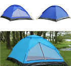 Blue/Dark Blue 2 Person 6.4'x4.4' Outdoor Family Camping Dome Waterproof Tent