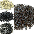 100PCS NEW Silicone Micro Rings Bead Link 4 Colors Feather Human Hair Extension