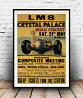 Motor sport at Crystal palace : Old Advertising Poster reproduction