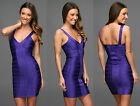 FRENCH CONNECTION FCUK PURPLE FOXY FAYE COCKTAIL PENCIL PARTY KNIT DRESS SZ 6-16