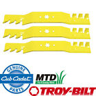 "1 Set of 3 OEM Extreme Blades 50"" Deck Cut MTD Cub Cadet Troy Bilt White Mowers"