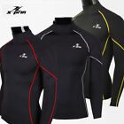 """ESPRINT Compression Tight Under Base Layer Mens 2"""" Neck Long Sleeve Shirts Tops"""