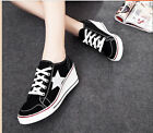 2014 Fashion womens Lace up Wedage canvas high heel shoes sneakers Tennis US4-8