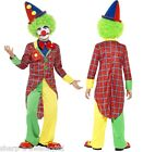 Kids Girls Boys Childrens Fun Time Clown Circus Fancy Dress Costume Outfit