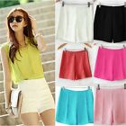 9Candy Color New Women Ladies Casual High Waist Harem Short Hot Pants Shorts -LJ