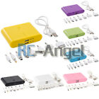 Portable Power Bank External 12000mAh 2 USB Battery Charger for Cell i Phone
