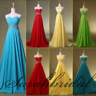 2014 New Empire Colorful Chiffon Prom Party Maxi Gowns Bridesmaids Evening Dress